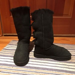 UGG® Bailey Bow Tall Suede Water Resistant Boots